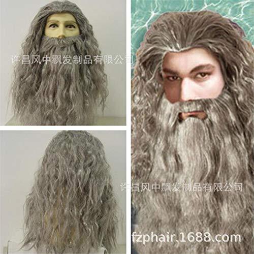 d amerikanischen Perücke Stirnband Ring König Hobbit Gandalf Zauberer ()