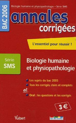 Biologie humaine et physiopathologie Bac Série SMS