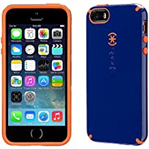 Speck CandyShell – Funda para iPhone 5 y 5S, color cadet azul/Zanahoria, color naranja