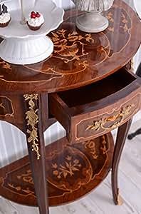 CONSOLE-console, table d'appoint, table-console murale baroque style vieille en français cadre pour portait en bois massif-exclusivité palazzo