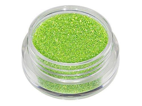 Glitter scintillanti polvere verde mela trendy Nail Art, decorazione unghie, trucco della pelle e volto, tatuaggio