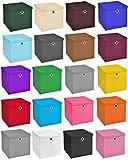 4er Set Weiß Faltbox 32 x 32 x 32 cm Aufbewahrungsbox von StickandShine faltbar mit Deckel