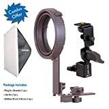 Harison Off-Camera Flash Kit/Elinchrom Mount/Speed-lite Accessory/for Godox V1 Flash/for Portraits and Product Photography