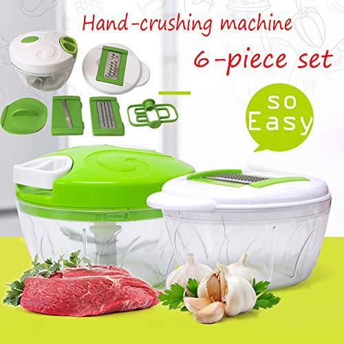 6 STÜCK Multifunktions Manuelle Lebensmittel Chopper, Gemüse Obst Reibe, Fleisch Brecher, Hochwertige edelstahl ABS PS material, Einfach zu bedienen, bequeme küche werkzeug -