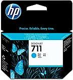 HP CZ130A 711 29ml Ink Cartridge for Designjet T120/T520 Large Format Inkjet Printers - Cyan