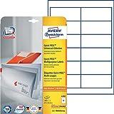 Avery Zweckform 4781 Adressetiketten (A4, Papier matt, 300 Etiketten, 97 x 42,3 mm) 25 Blatt weiß