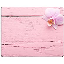 Liili alfombrilla de ratón de goma natural Mousepads rosa orquídeas flores en el color rosa pastel fondo 28393651
