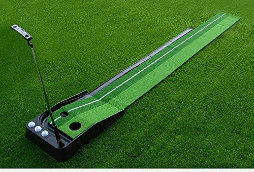 D & L Golf Putt alfombrilla automático Golf Putting práctica formación ayuda con de retorno de pelota
