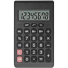 Calculadora, Helect Diseño Compacto Calculadora Básica Portátil (Negro)