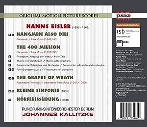 Hanns Eisler: Hangmen Also Die!; The 400 Million; The Grapes Of Wrath; Kleine Symphonie; Hörfleißübung [Rundfunk-Sinfonieorchester Berlin] [Capriccio: C5289] by Capriccio