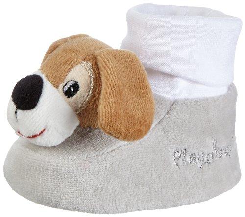 Playshoes Rasselschuhe Hund, Noppensohle, 101105 Unisex-Baby Krabbelschuhe Grau (original 900)