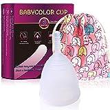 Coupe Menstruelle en Silicone - Transparente Réutilisable Flexible Menstrual Cup -...