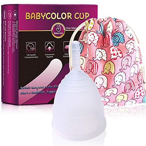 Copa Menstrual-copa menstrual más recomendada-Incluye una bolsa de regalo-Pastillas...