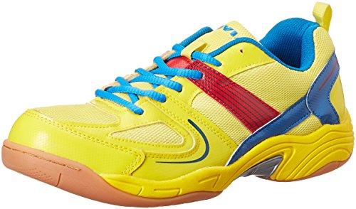 Nivia Men's Yellow and Aster Blue Badminton Shoes - 9 UK/India (42 EU)(602)