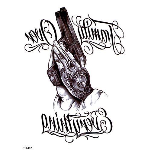 Wasserdicht Temporäre Tätowierungen Männer Pistole Gefälschte Tätowierung Körper Tätowierung Ärmel Kunst Tattoo Henna Tattoo Aufkleber - Spielzeug Handgelenk Pistole