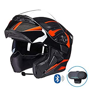 MTCTK Motocicleta Casco Bluetooth Integrado