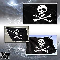 Bandera pirata, para mástil de poliester, 150 X 90 cm.
