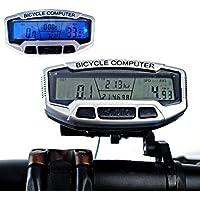 MaMaison007 LCD retroilluminato digitale della bicicletta dell'odometro