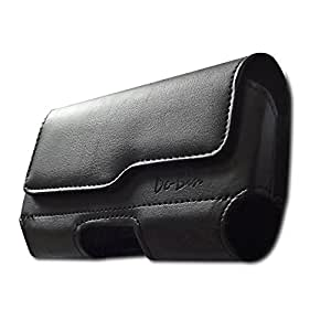 Premium Leather Belt Clip Pouch Case For iPhone 6 (Fits with otterbox case / Lifeproof Waterproof case on)
