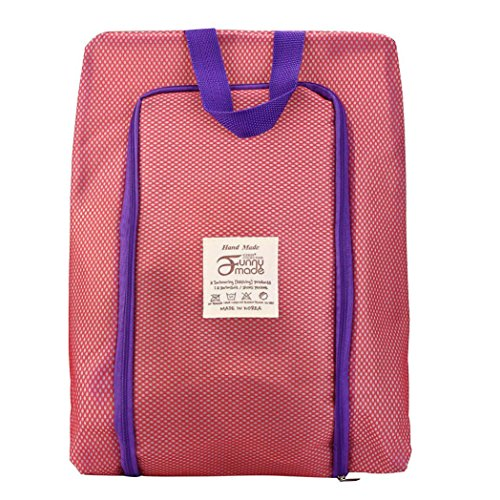 Hunpta Portable Travel Schuhbeutel Zip View Fenster Pouch Storage wasserdicht Organizer Rosa