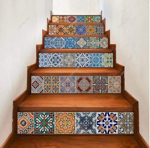 Yizunnu Schritte Aufkleber Abnehmbare Treppe Aufkleber Home Decor deroration Wandbild Wrap 17,8x 99,1cm, 6pcs/Set (Hergestellt Home Treppen)