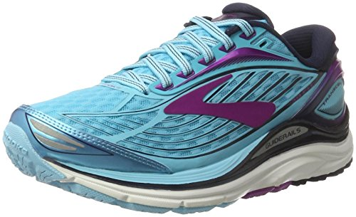 Brooks Transcend 4, Chaussures de Course Femme Multicolore (Bluefish/peacoat/purplecactusflower)
