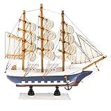 Fenteer Vintag Modell: Holzschiff Segelboot Segelschiff Schiff aus Holz Handwerk Dekoration - # A