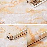 lsaiyy Carta da Parati in Marmo autoadesiva Carta da Parati Impermeabile e Resistente all'olio in Vinile per Cucina Tavolo focolare Armadio e Arredamento Industriale K 60CMX1M