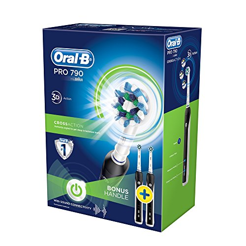Oral-B PRO 790 CrossAction - Cepillo eléctrico recargable, Pack 2