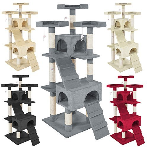 TecTake Cat tree Activity Center Barney - different colours - (Grey)
