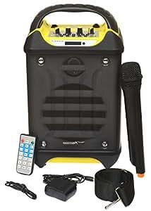 Geestar Plus Portable Active Bluetooth Karaoke Speaker System, Rechargeable Battery, Wireless Mic, USB/SD Readers