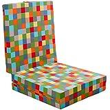 Verona Colchón plegable, cama para invitados, cuadros, multicolor