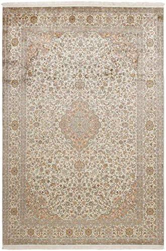 Nain Trading Cachemire Puri di Seta 308x217 Annodato a Mano India Tappeto Orientale Beige India Mano 323cab
