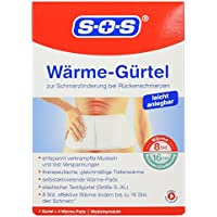 SOS Wärme-Gürtel 1 Gürtel mit 4 Wärme-Pads preisvergleich bei billige-tabletten.eu