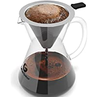 Caffettiera Pour Over manuale in acciaio inossidabile per caffè americano