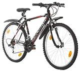 Multibrand PROBIKE 26 Zoll Mountainbike Shimano 18 Gang, Herren-Fahrrad & Jungen-Fahrrad, geeignet ab 165-183 cm (Schwarz+Kotflügel)