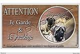 Panneau chien ou plaque Mastiff-Anglais 30 cm