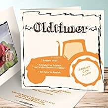 Schön Einladungskarten 60 Geburtstag Selbst Gestalten, Bulldog Mit Foto 60 60  Karten, Quadratische Klappkarte 145x145