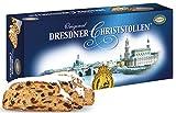 Echt Dresdner Christstollen im Karton - 1x1kg - Weihnachtsstollen im Geschenk Karton - Vadossi