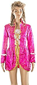 Carnaval, Women's Costume Pirate Buccaneer, One Size, Pink