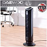 "Daewoo Branded 30"" Oscillating Air Colling Tower Fan with Timer - BLACK"