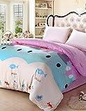 ZHUAN GAOHAIFQ®, vierteilige Anzug, 100% Baumwolle Königin Bettbezug Comfortble für Einzel- oder Doppelbettgröße, King
