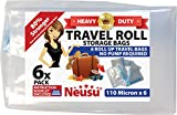 Neusu Roll Up Travel Vacuum Bags - 6 Pack - Heavy Duty 110 Micron Storage Bags (Extra Large - 50cm x 70cm)