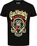 Gas Monkey Garage Oficial 'Sparkplugs' Camiseta, M, Negro.