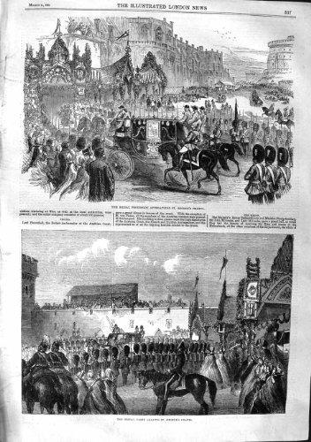 1863 HOCHZEIT BRAUT-PROZESSION GEORGE'S-KAPELLE
