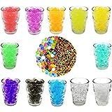 [6000pcs de 12colores] vpsan perlas de agua perlas de gel Aqua perlas Deko Aqua Linos hydroperlen para el Riego de Plantas, 6000unidades, 12bolsa
