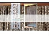 Cirillo Tende PVC-Türvorhänge Modell Roma - Aluminiumträger - Made in Italy - Eichmaß (95X200/100X220/120X230/130X240/150X250) - Fliegenvorhang (100X220, Braun (4))