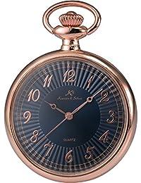 KS KSP057 - Reloj Unisex de Bolsillo de Cuarzo Japonés, Open Face Series