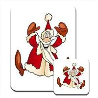 Motivo: Babbo Natale che salta di gioia & Tappetino per mouse e sottobicchiere