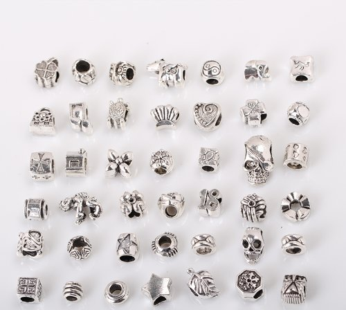 bundle-monster-40-pc-antique-silver-plated-oxidized-metal-beads-charms-set-mix-lot-compatible-with-p